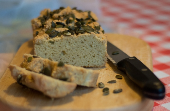 almond and pumpkin seed bread