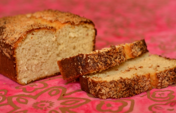 Lemon Coconut Loaf. Gluten free