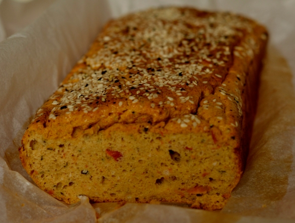 Roasted Tomato Pesto Buckwheat and seseme bread
