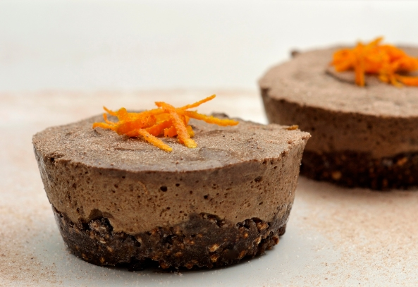 Carob and Orange frozen puddings