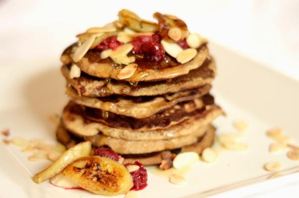 Vanilla Buckwheat Pancakes (dairy, sugar and gluten free)
